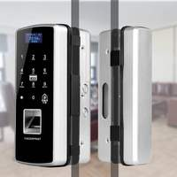 New Arrival Glass Door Fingerprint Lock, No need to Drill Hole on Glass