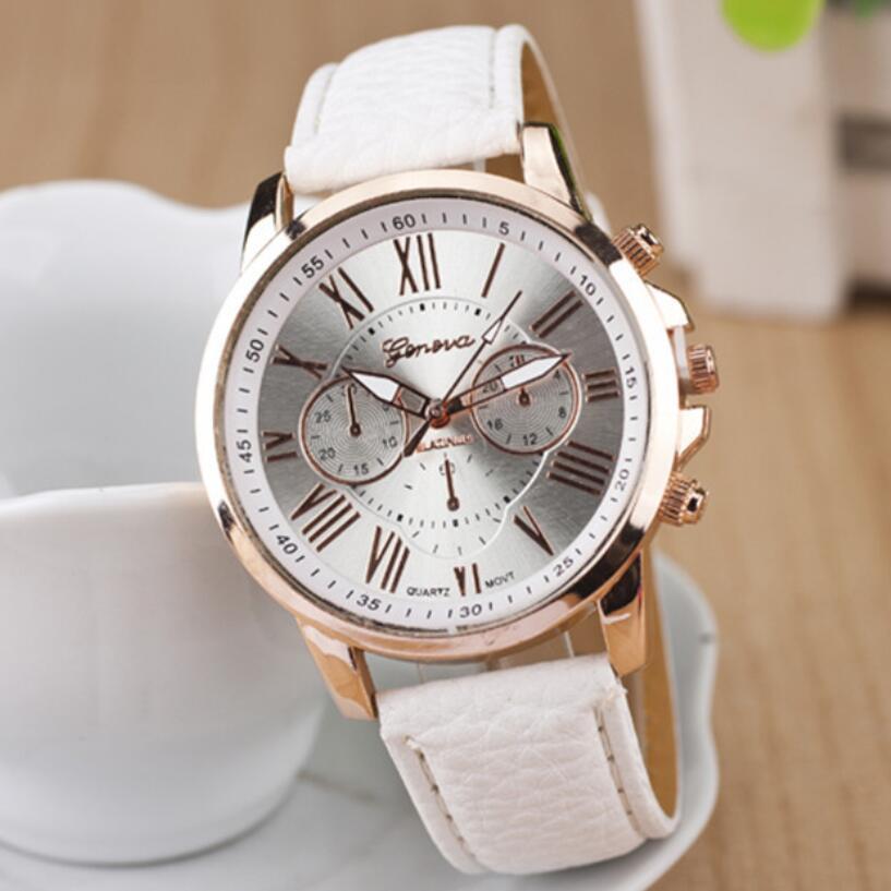 MINHIN Multi Colors Belt Quartz Wristwatches Women Lovely Design Watches Roman Numerals Leather Band Wrist Bracelet Watches