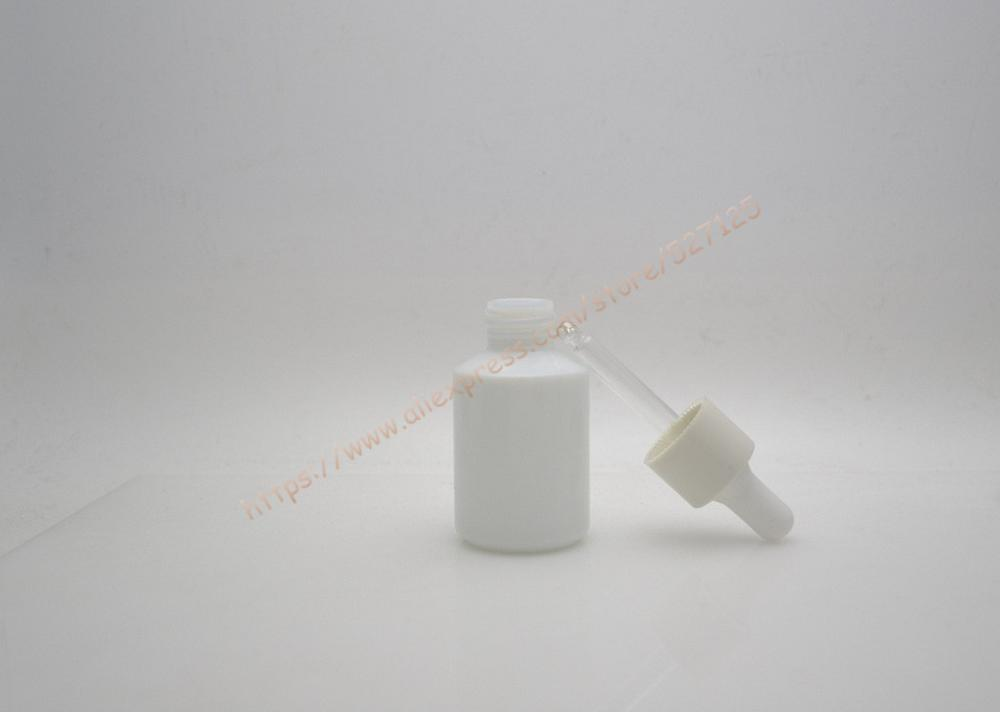 30 ml naturalny biały szklana butelka z białą z kroplomierzem pokrywką, pojemnik z kroplomierzem, OLEJEK ETERYCZNY butelki, profesjonalny kosmetyk pojemnik w Butelki wielokrotnego użytku od Uroda i zdrowie na  Grupa 2