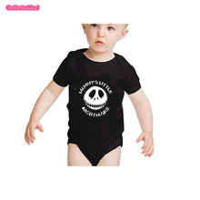 culbutomind funny halloween costume baby bodysuit mommyu0027s little nightmare scary child infant clothes clothing