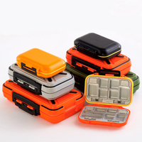 Multifunctional Waterproof Fishing Accessories Storage Box Tool Screws Accessories Box ABS Plastic Lattice Storage Box