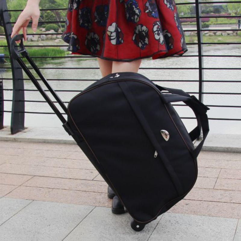 Image 5 - Waterproof Large Capacity Travel Bag 2019 Fashion Casual Thick Style Rolling Suitcase With Wheels Luggage For Women Men StudentsTravel Bags   -
