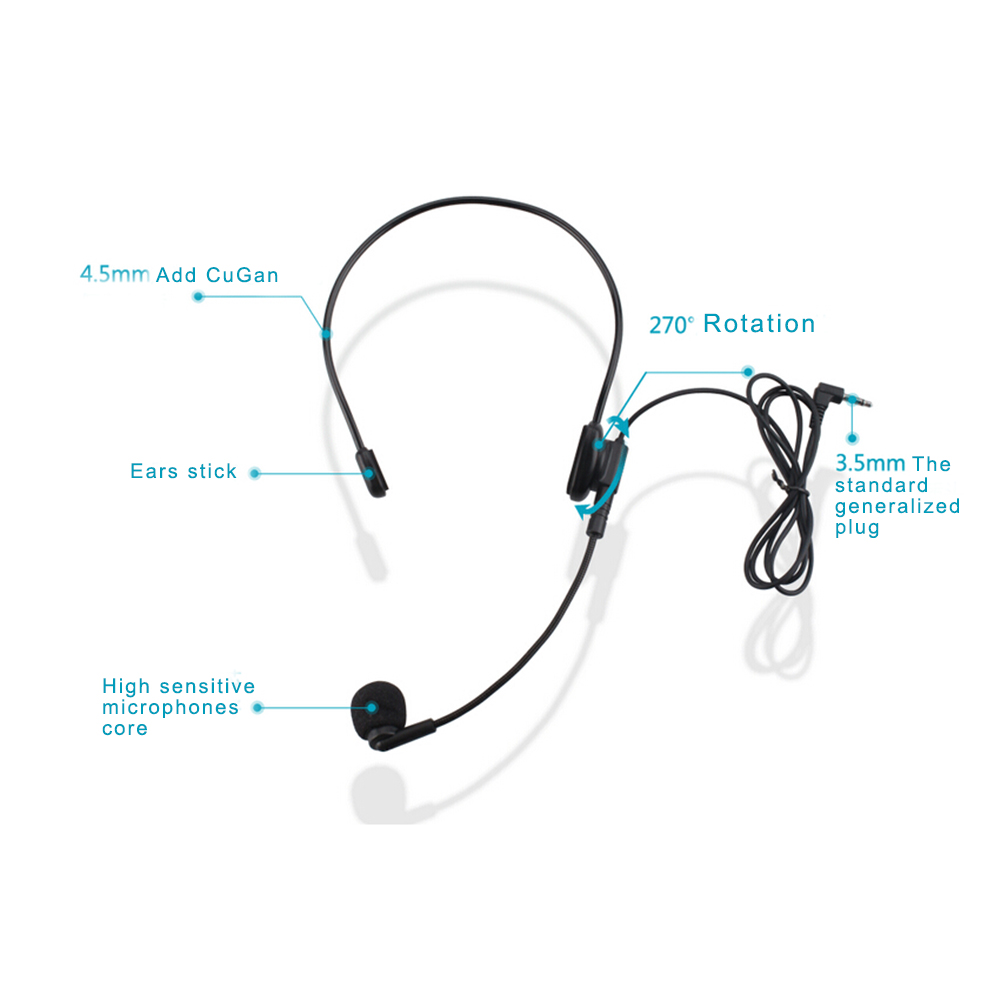 Boom Headset With Mic Wiring Diagram Schematic Electronic Earphone Microphone Online Shop Cable Headmounted Flexible Wired Rhmaliexpress