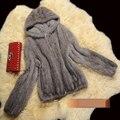 Novo Inverno Casaco De Pele Casaco Feminino Genuíno Das Mulheres De Pele Real de Malha Casaco de Pele De vison Casacos Com Capuz Plus Size M 6XL g9835