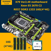 HNan Motherboard CPU Combos Intel X79 LGA 2011 Motherboard With CPU Xeon E5 2670 C2 16G