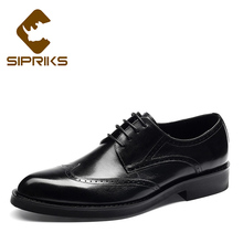 Mens Formal Leather Shoes Classic Wingtip Dress Shoes