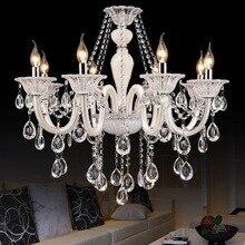 Белая люстра Хрустальная европейская модель Роскошный Кристалл белые современные Кристальные лампы для люстры