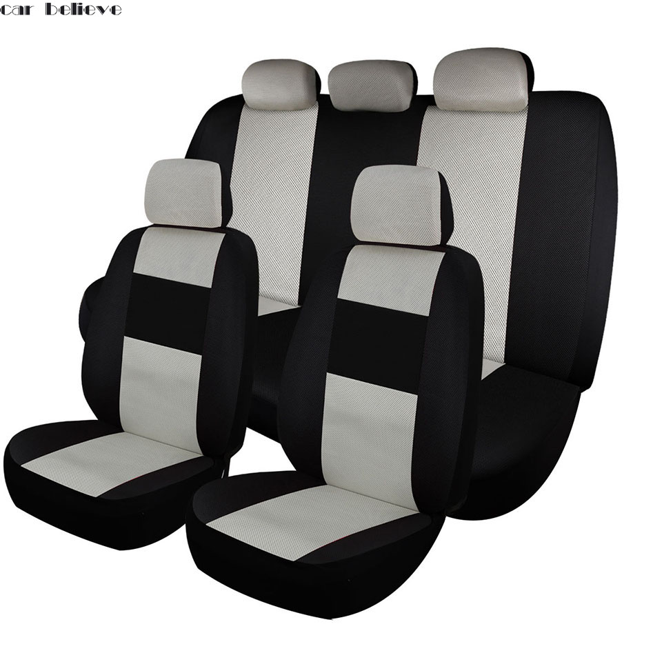 Car Believe leather car seat cover For mitsubishi pajero 4 2 sport outlander xl asx accessories lancer covers for vehicle seat car door stopper protection cover fit for mitsubishi asx outlander lancer accessories car sticker