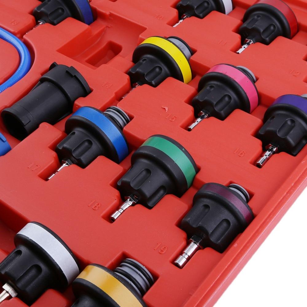 27pcs Set Auto Car Water Tank Pressure Gauge Cooling System Leaking
