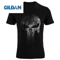 GILDAN The Punisher Skull Hip Hop Supper Hero T Shirts Men T Shirt Tees Brand Clothing