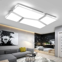 Modern LED Ceiling lights for living room study Original stone stacking style indoor lighting white black ceiling lamp led strip