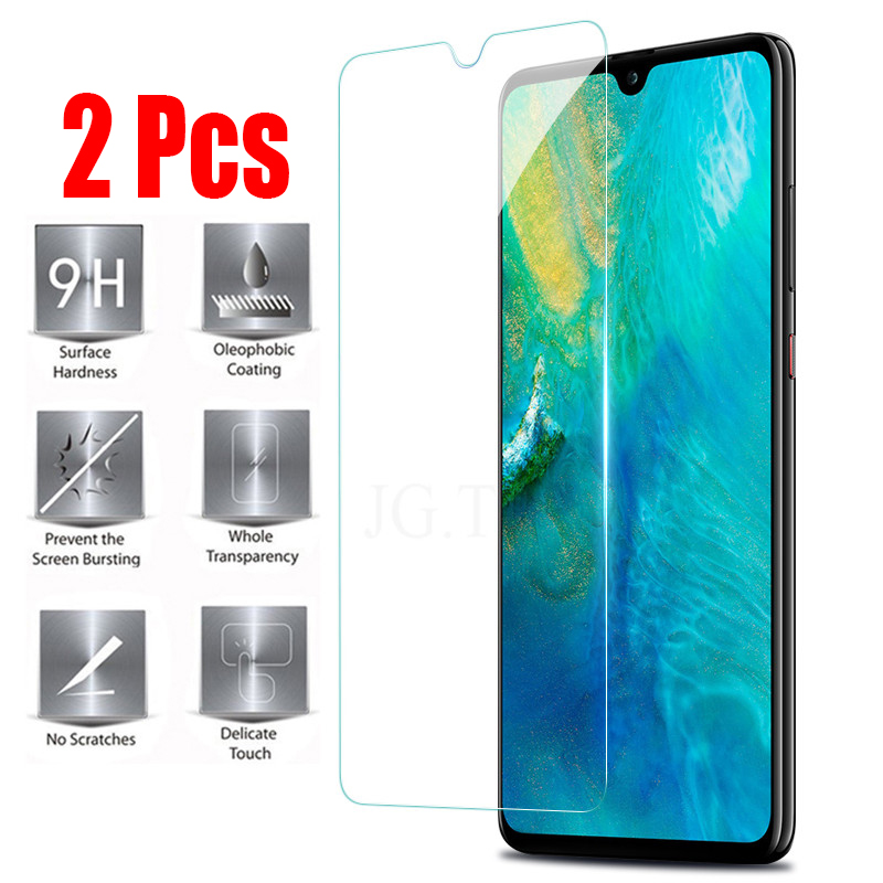 2 Pcs High quality tempered glass for huawei P20 lite P20 Pro P20 Screen protector for huawei honor 8x honor 10 lite glass film in Phone Screen Protectors from Cellphones Telecommunications