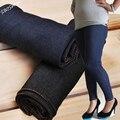 Mulheres Jeggings Plus Size XL-XXL Jeggings Jeans para Mulheres Spandex do Poliéster para Senhoras 60-110 kg