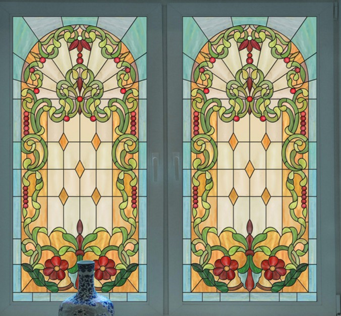 popular stained glass window film for churches-buy cheap stained