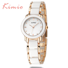 KIMIO Ladies Imitation Ceramic Bracelet Cheap women watch famous luxury brand 2017 fashion Women's Watches for Women Hot Sale