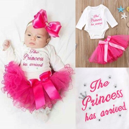 2018 New 2Pcs Set Princess Newborn Baby Girls Long Sleeve -5239