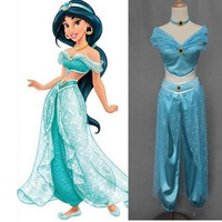 Sexy Princess Jasmine Belly Dance Dress Party Cosplay Halloween Princess Jasmine Costumes For Women Adult Adults