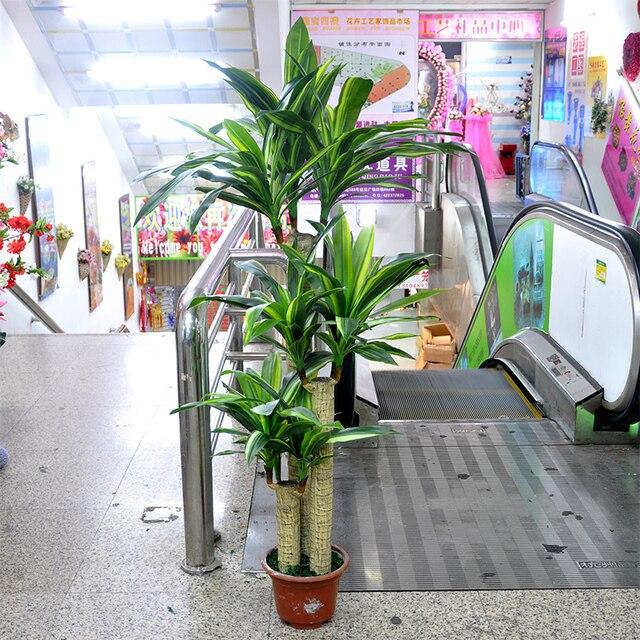 high quality artificial 145cm 3 trunks brazil cycads tree,dracaena Artificial Silk Trees