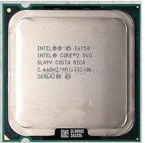 Бесплатная доставка для Intel Core 2 Duo E6750 775-контактный процессор 2.66 Г настольный компьютер CPU