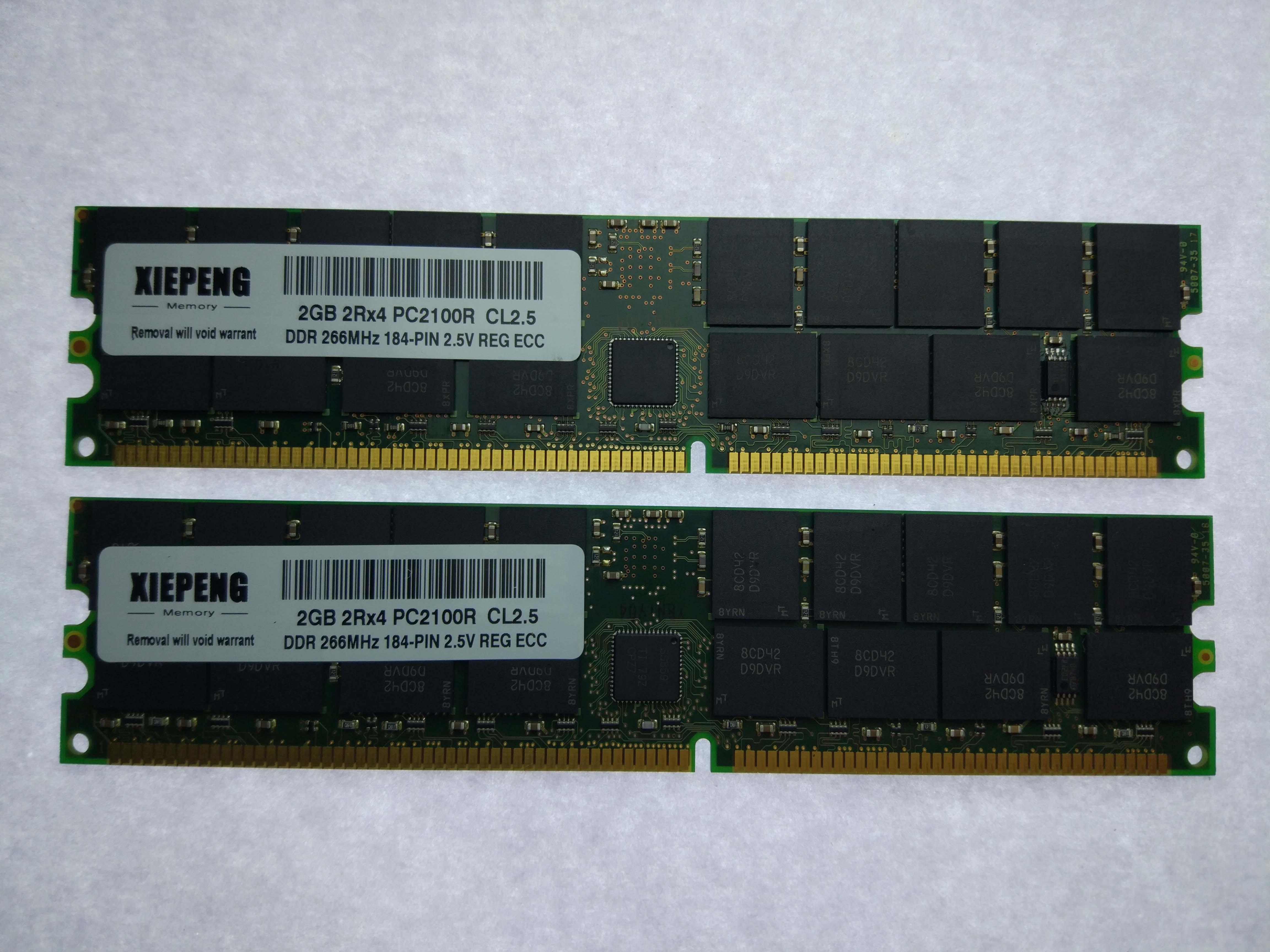 for HP Workstation zx6000 RX2600 RX2620 RP3440 RAM 2GB DDR 400MHz PC2100 ECC REG 4GB PC2700R
