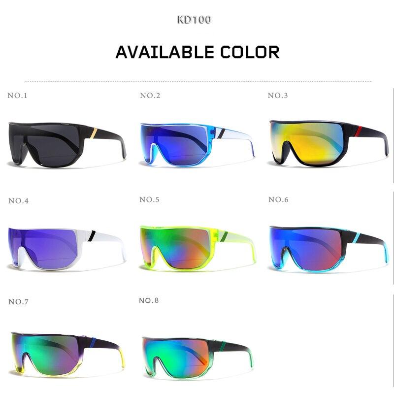 daff8ebe52 KDEAM Mens gafas de gran tamaño deporte gafas de sol de Marco superior las  mujeres gafas de sol a prueba de viento gafas UV400 4 colores con el caso  KD100 ...