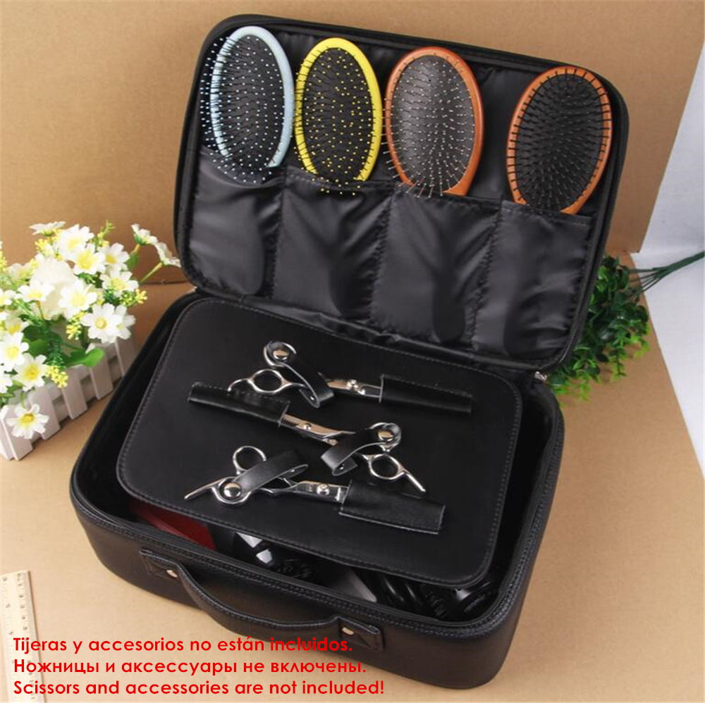 Professional Barber Tools Bag Leather Scissors Case Handbag Salon Hairdressing Tool Storage Bags For Hair Dryer Trimmer Holder In Trimmers From Home