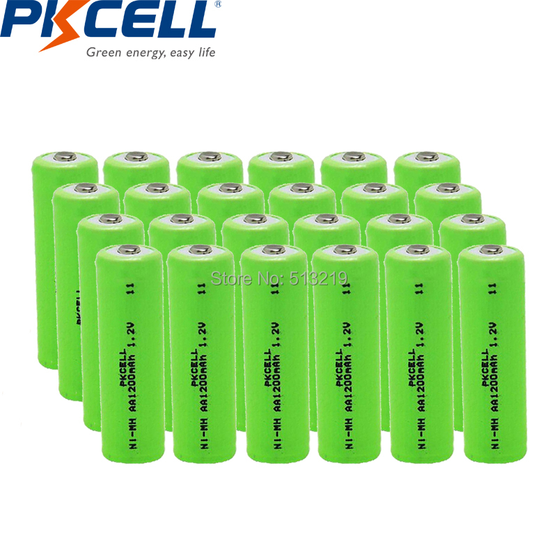 24PCS <font><b>aa</b></font> <font><b>1200mah</b></font> <font><b>NIMH</b></font> <font><b>battery</b></font> <font><b>AA</b></font> <font><b>rechargeable</b></font> <font><b>battery</b></font> <font><b>1.2v</b></font> NI-MH <font><b>battery</b></font> indurstry <font><b>batteries</b></font> for flashlight toy PKCELL Brand image