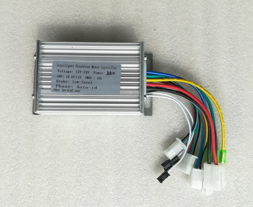 250W 12V / 24V  DC 6 MOFSET Brushless Controller, BLDC Motor Controller / E-bike / E-scooter / Electric Bicycle Speed Controller
