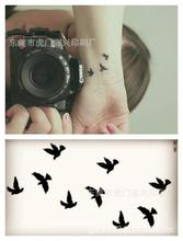Style Waterproof Temporary Tattoos For Lady Women Colorful Animal Aerial Bird Design Tattoo Sticker HC1073