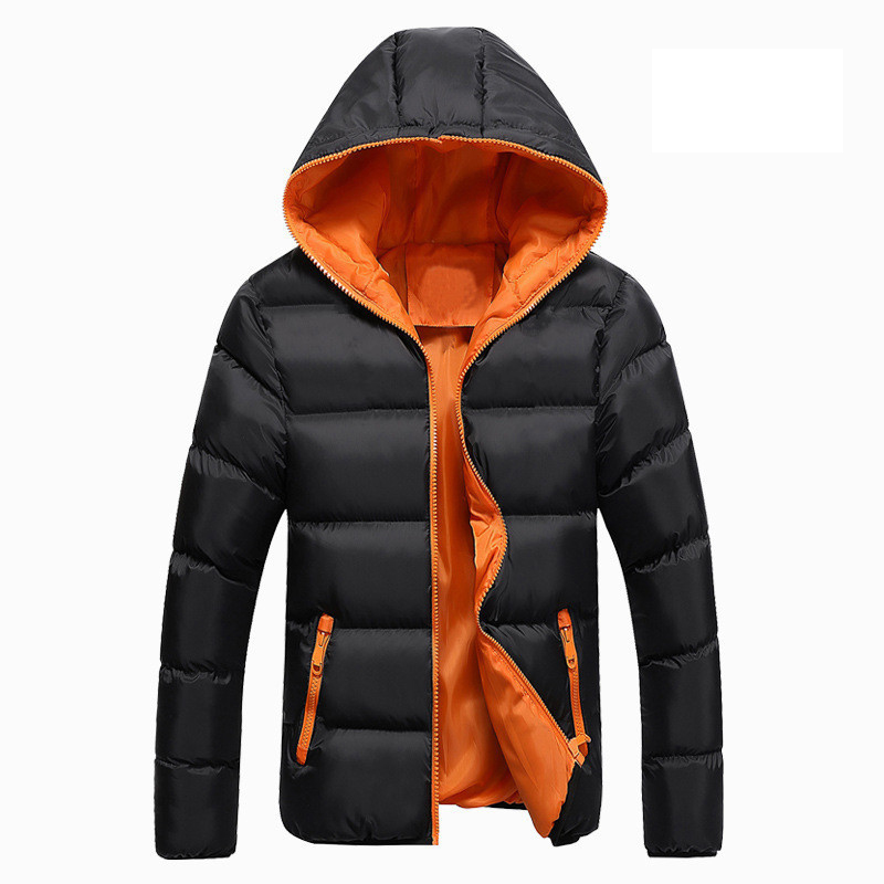 Men Winter Casual New 2019  Hooded Thick Padded Jacket Zipper Men And Women Coats Men   Slim Parka Outwear Warm(China)