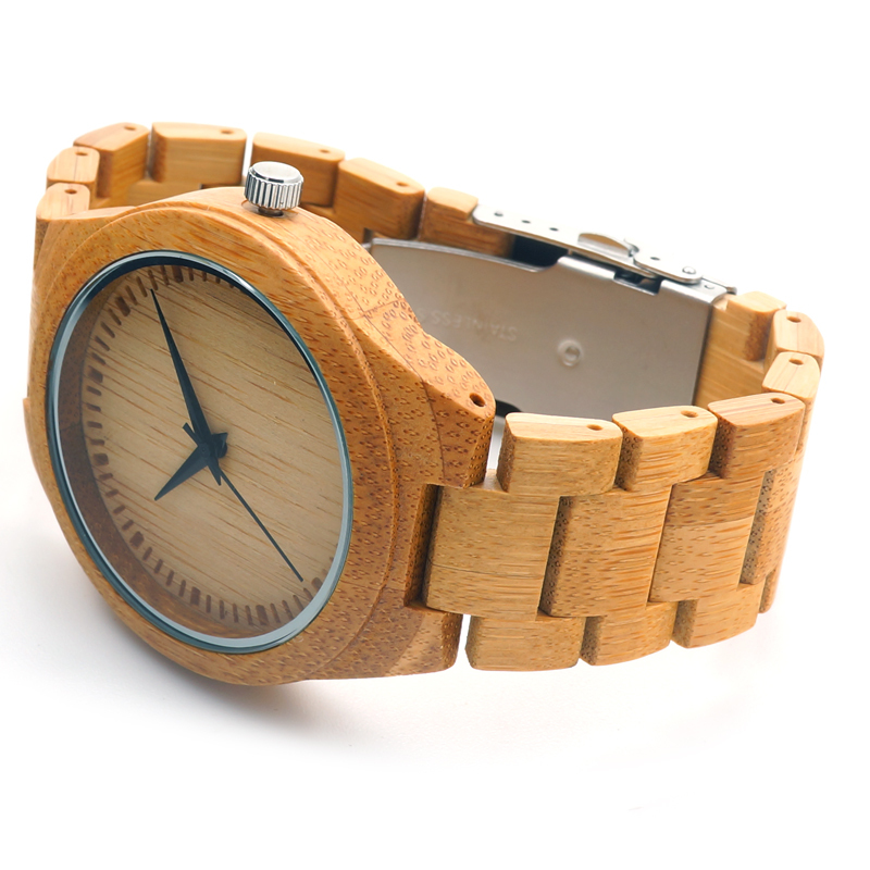 Brand Mens Watch BOBO BIRD Full Bamboo Wristwatches with Bamboo Band Japan Move 2035 Quartz Wood Watch for Men as Gifts C-D19