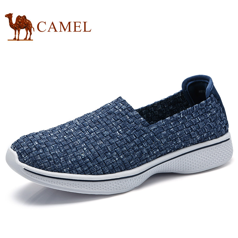 Camel 2018 Spring New Trend Fashion Loafers Men's Breathable Lithe Casual Men's Braided shoes A812304280