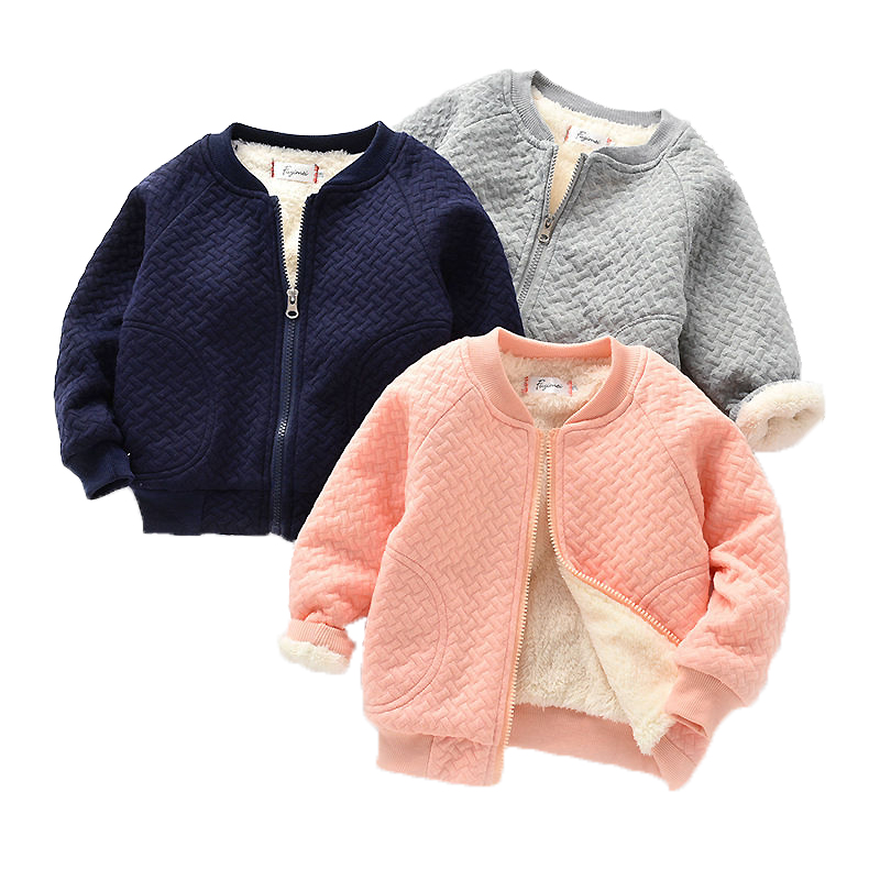 2019 Baby Girls Thick Jackets For Baby Clothes Kids Velvet Zipper Coats Winter Toddler Boys Warm Jacket Casual Baby Outerwear