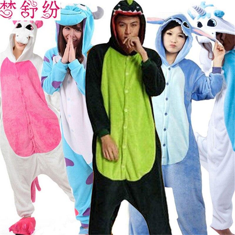 Adult Pajamas Animal Pijamas Mujer Pyjamas For Womens Mens Panda Animal Pajama Onesie Stitch Pyjama Femme Pijama Sleepwear