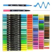 12/24/36/48/72/100 цветные маркеры набор Цвета ручка Цвет ручка Набор цветных карандашей кисточки маркеры, фломастеры картина тонко пишущие