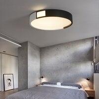 Modern LED Ceiling Chandelier For Living Study Room Bedroom Black And White Nice Brightness LED Ceiling