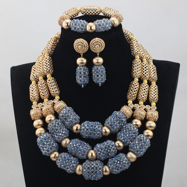 3 rows Crystal Beads Jewelry Sets 2017 new African Wedding Gold Mix Color/PurpleNecklace African Accessory Free ShippingABH0493 rows Crystal Beads Jewelry Sets 2017 new African Wedding Gold Mix Color/PurpleNecklace African Accessory Free ShippingABH049
