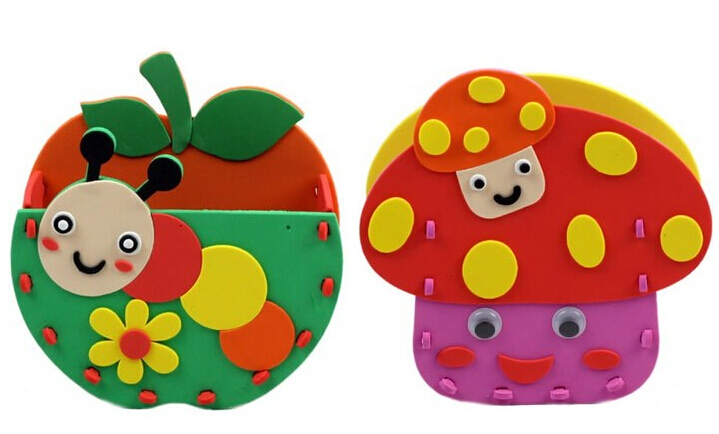 2PCS Set DIY Children EVA Pen Holder Handwork Game Toy Colorful Stickers Toys For Kids Aged 3 UP In Mens Costumes From Novelty Special Use On