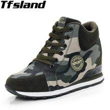 Для женщин цифровой камуфляж дышащая женская обувь на платформе на высоких каблуках боевые ботинки; обувь для пустыни; прогулочная обувь; военные Кроссовки Zapatillas