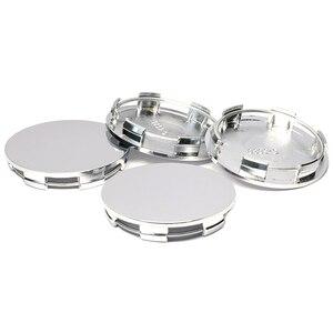 Image 5 - 4pcs/lot 60MM Silver Chrome Plastic Flat Surface Car Wheel Center Hub Caps Cover Auto Rim Tire Hubcap