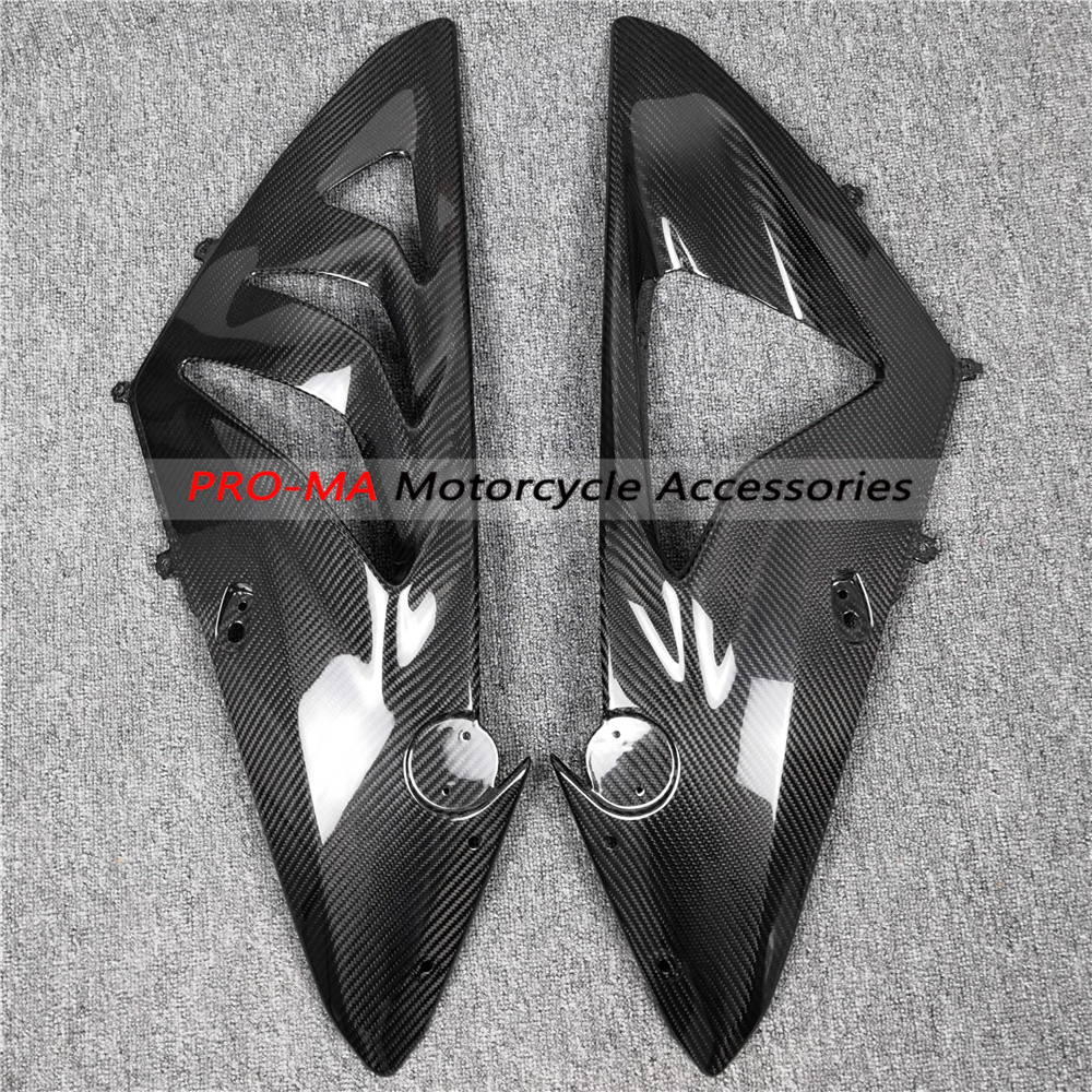 Motorcycle Side Panels in Carbon Fiber for BMW S1000RR 2009 2014 Twill 7 8