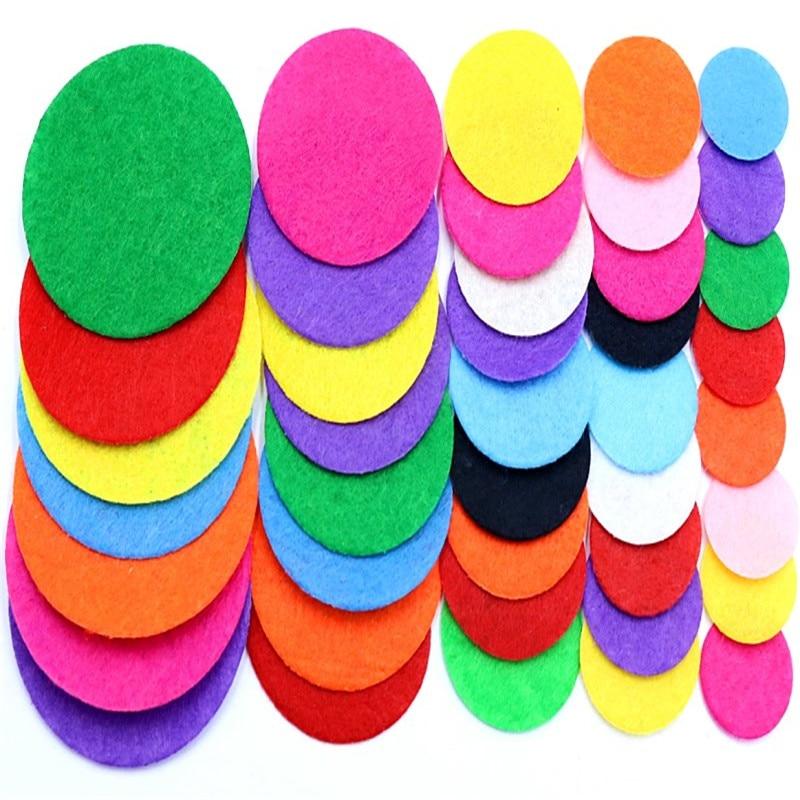 100 Pcs Circular Wool Felt Diy Crafts For Kids Felt Leaves Flowers Headwear Appliques Scrapbooking Home Decor Sewing Accessories