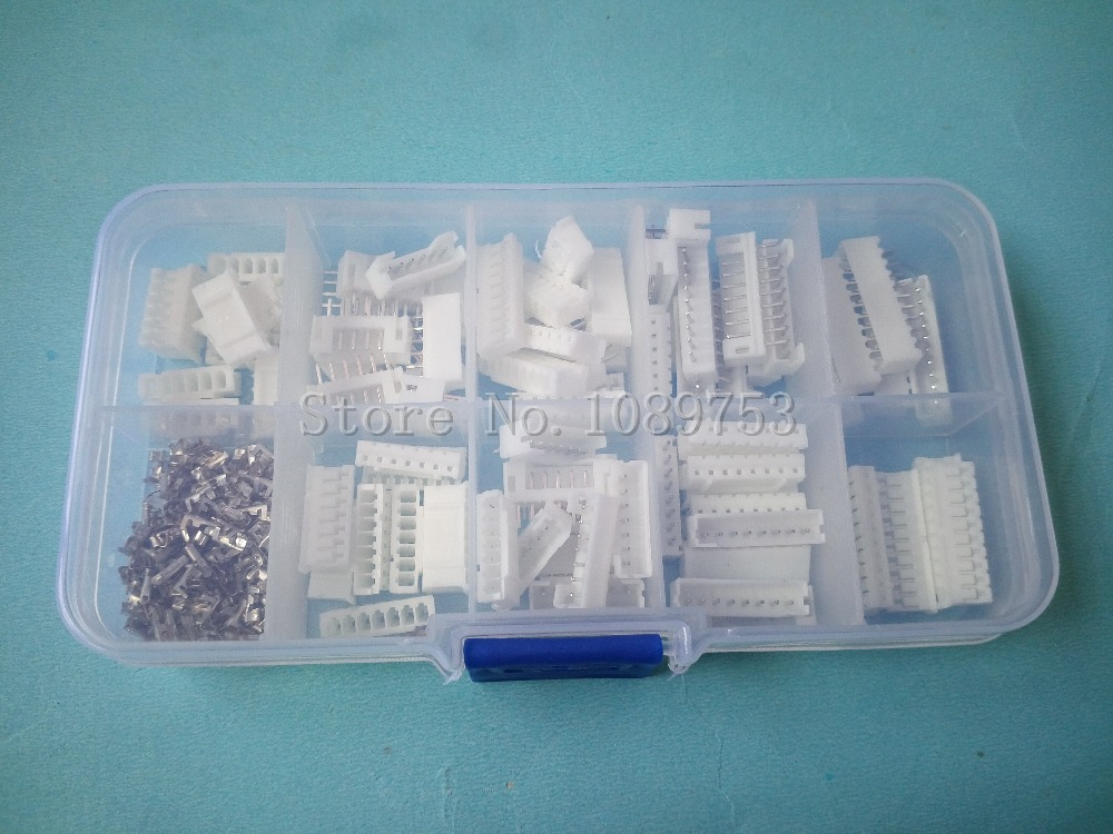 50 sets Kit 6p 7p 8p 9p 10 pin 2.0mm Pitch Terminal / Housing / Pin Header Connector Wire Connectors Adaptor PH Kits