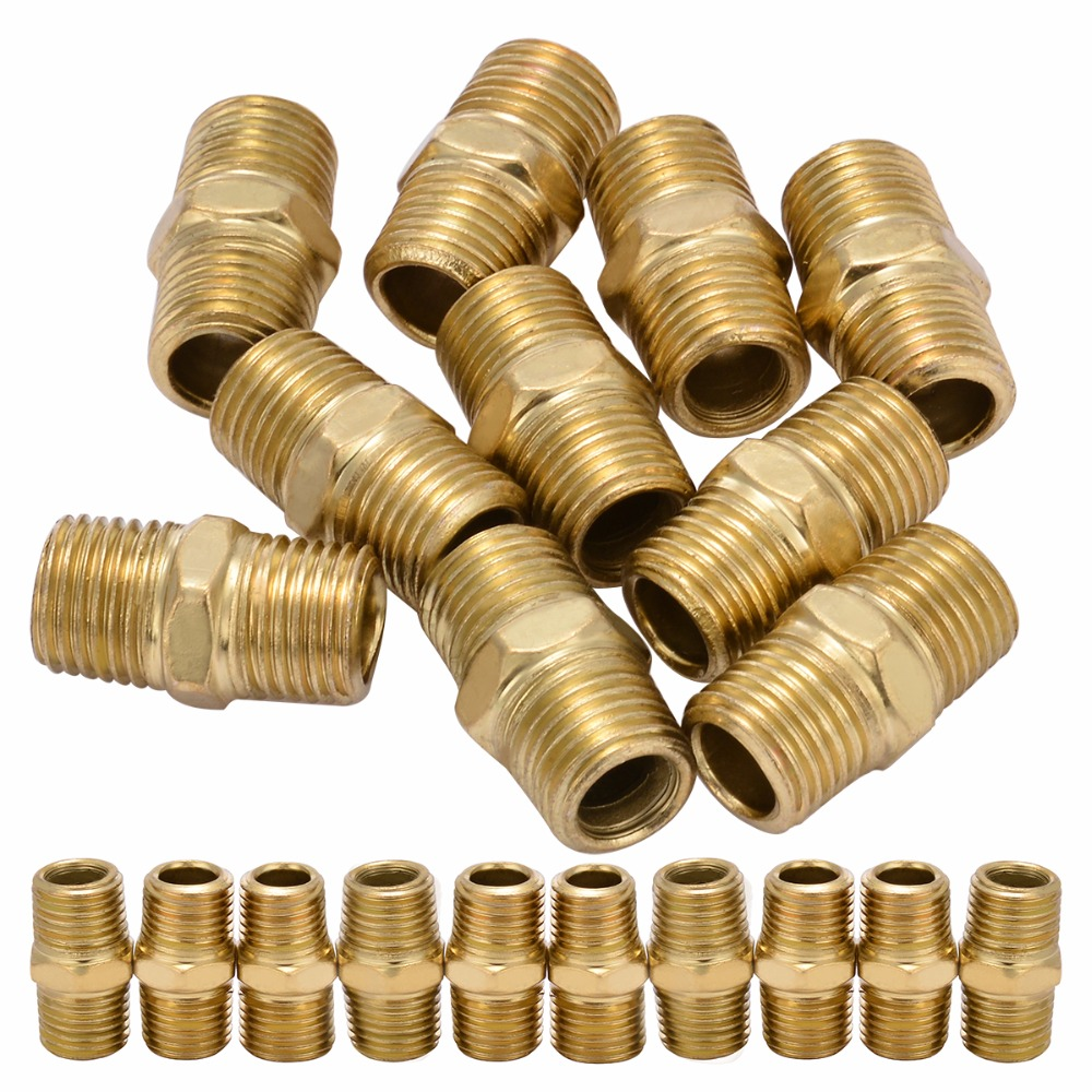 10pcs Gold Air Line Hose Connector 1/4 BSP Male Thread Euro Fitting Quick Release Set with Corrosion Resistance 10pcs new gold air line hose connector euro fitting quick release set with 1 4 bsp male thread mayitr