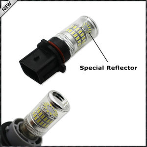 Image 3 - 2pcs Error Free White P13W LED Bulbs w/ Reflector Mirror Design For 2008 12 Audi B8 model A4 or S4 with halogen headlight trims