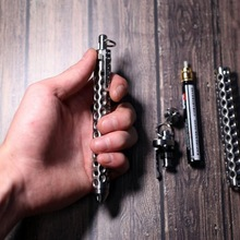 2019 Time-limited New Titanium Outdoor Edc Tool, Portable Tactical Hollow Defense Pen, Tool Self-defense Cool Window Breaker
