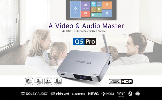 Android TV Box HIMEDIA Q5Pro, Smart Home TV Network player, Android ...