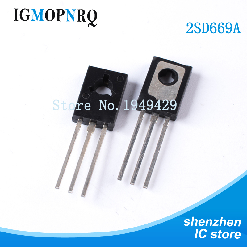 New Original 2SD669A 2SD669 D669A D669 TO-126 Triode 20PCS/Lot Wholesale Electronic