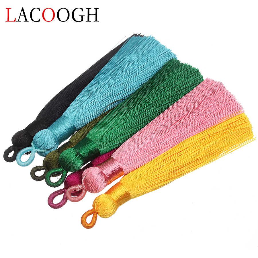 10 Pcs Brush Pendant Earrings Silk Satin Tassel Bracelets Fringes Jewelry Making