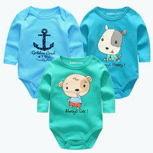 New Cutest 3pcs/lot Baby Romper Short Sleeve Cotton Similar Baby Boy Girl Clothes Baby Wear Jumpsuits Clothing Set Body Suits(China)